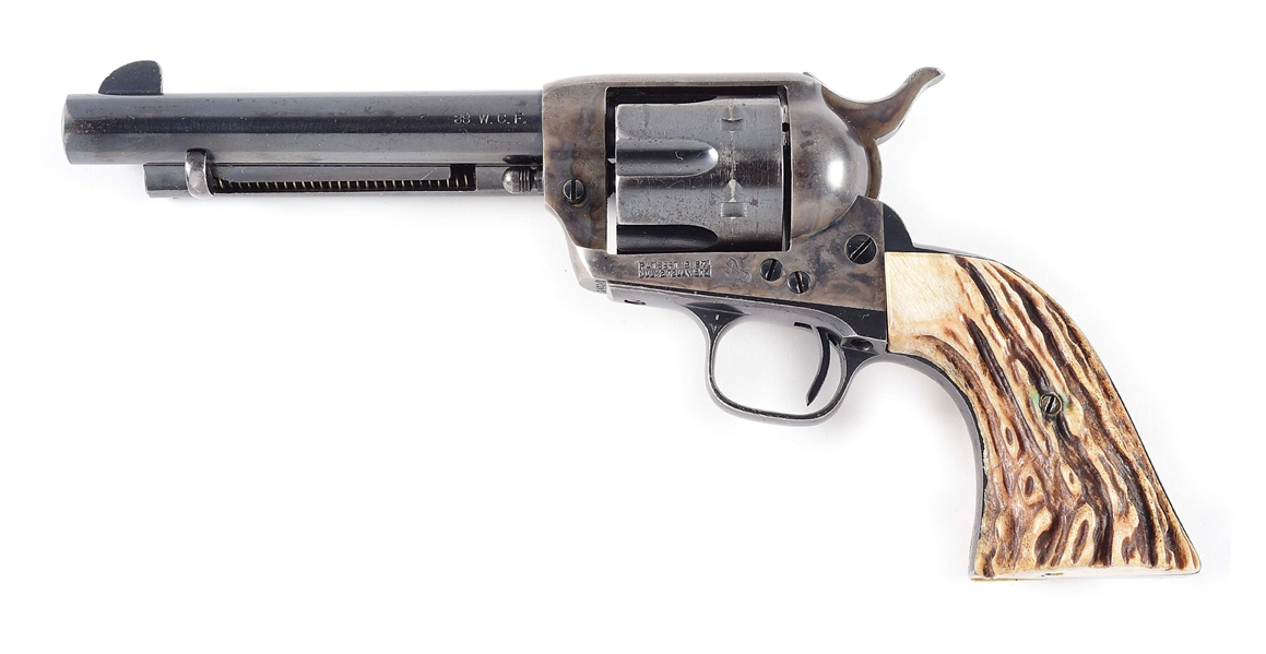 (C) COLT SINGLE ACTION ARMY .38 WCF REVOLVER.