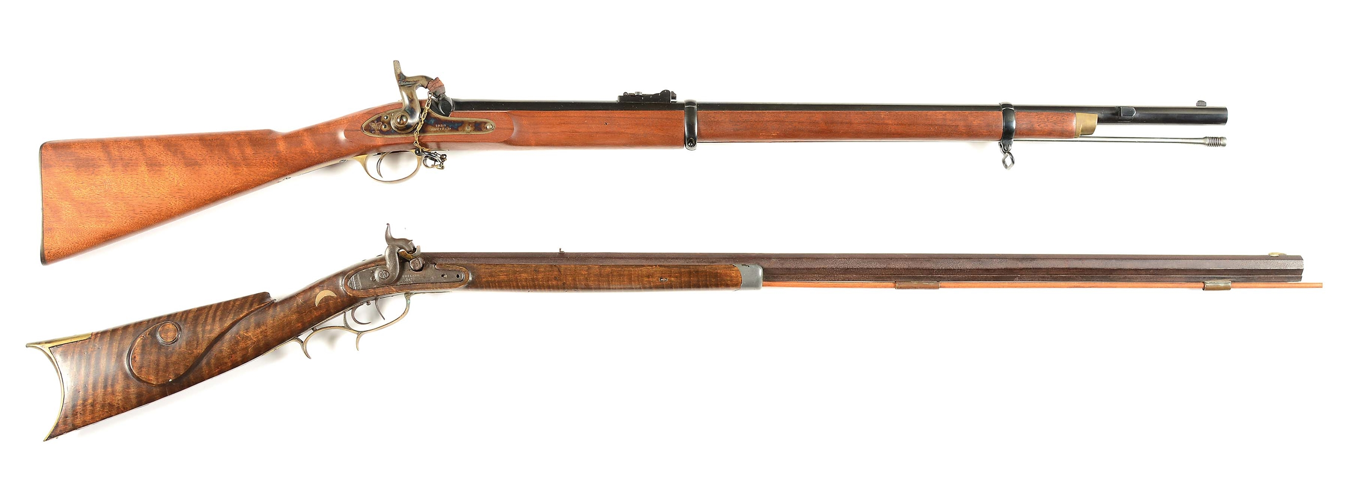 (A) LOT OF 2: ENFIELD AND KETLAND PERCUSSION RIFLES.