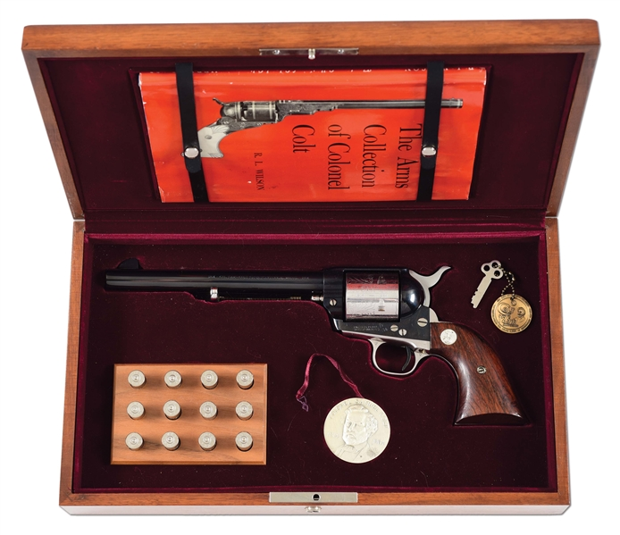 (C) COLONEL SAM COLT SESQUICENTENIAL SINGLE ACTION ARMY REVOLVER WITH CASE.