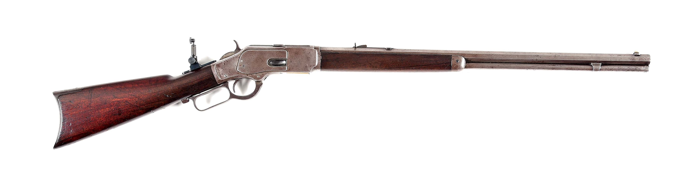 (A) WINCHESTER MODEL 1873 LEVER ACTION .32-20 WCF RIFLE