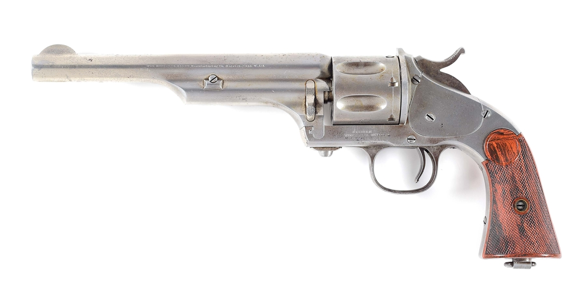 (A) MERWIN AND HULBERT 2ND MODEL FRONTIER .44-40 REVOLVER.