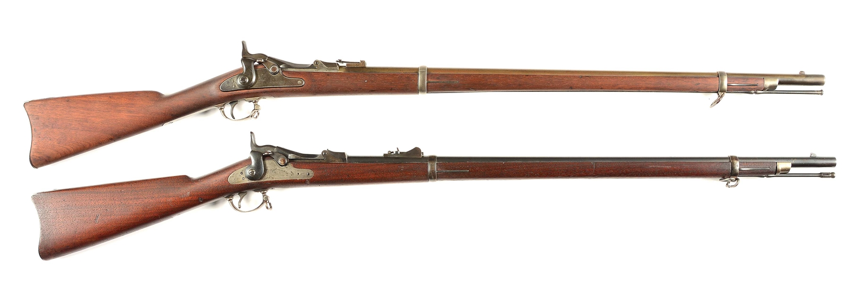 (A) LOT OF TWO SPRINGFIELD TRAPDOOR RIFLES.