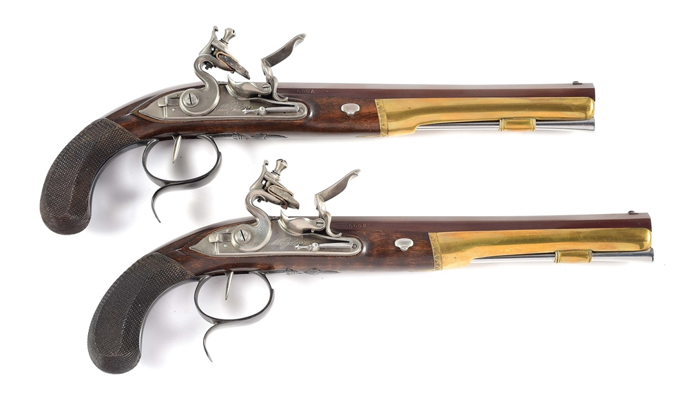(A) CASED PAIR OF U.S. HISTORICAL SOCIETY WOGDON BURR-HAMILTON COMMEMORATIVE PISTOLS, S/N 000.