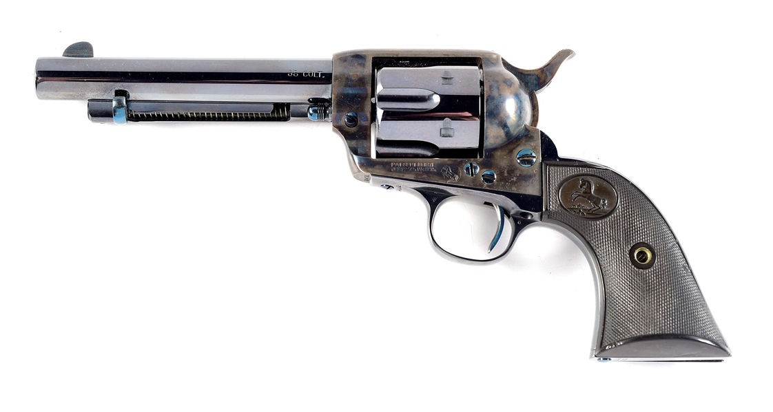 (C) COLT SINGLE ACTION ARMY REVOLVER (1908).