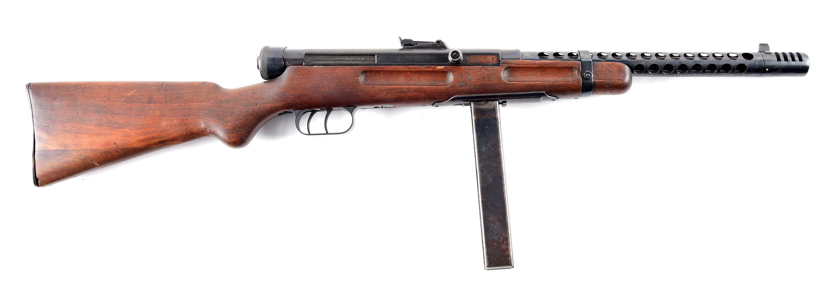 (N) HIGHLY DESIRABLE WORLD WAR 2 ITALIAN BERETTA MODEL 38A MACHINE GUN (CURIO & RELIC).