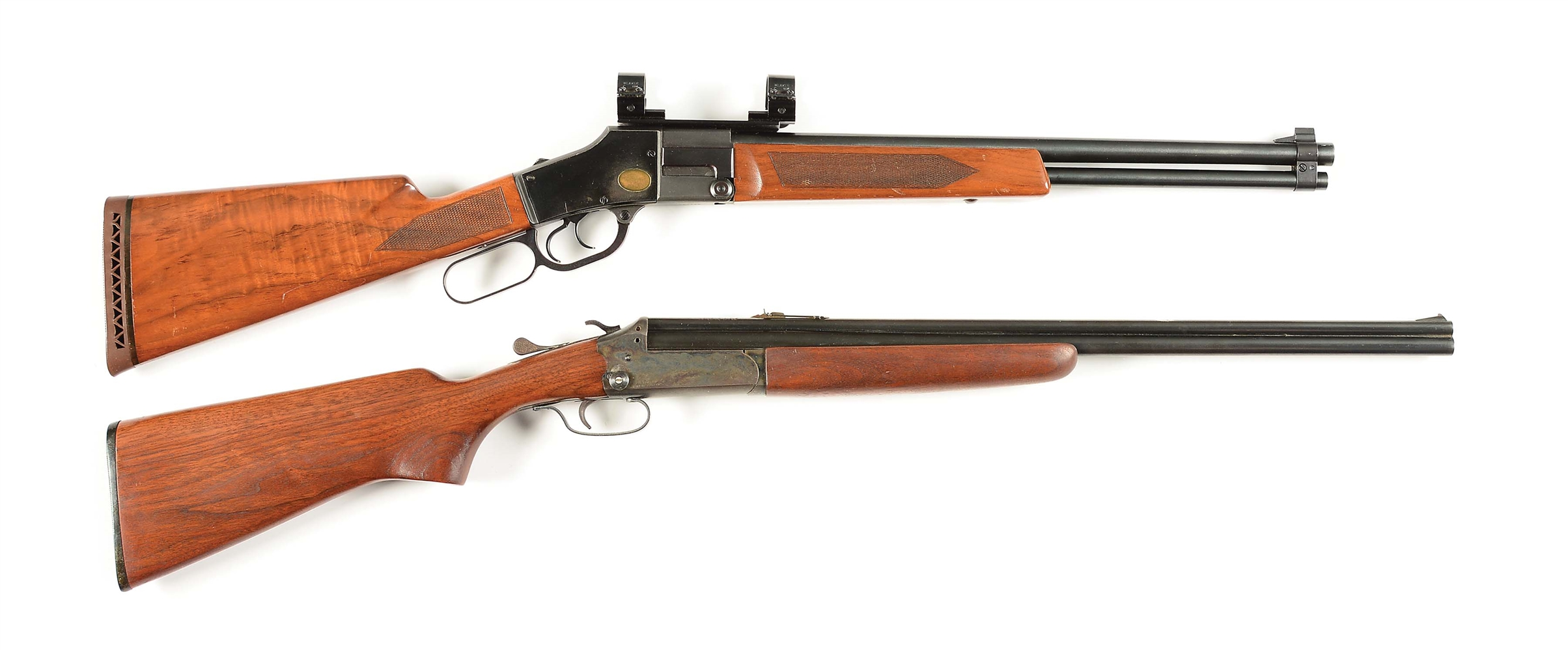 (C) LOT OF 2: STAGGS-BILT MODEL 20-30-30 AND SAVAGE COMBINATION RIFLES.