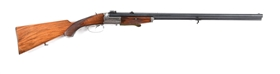(C) COLLATH 16 GAUGE X 16 GAUGE X .22 HORNET DRILLING RIFLE WITH OFFSET CLAW SCOPE MOUNTS.