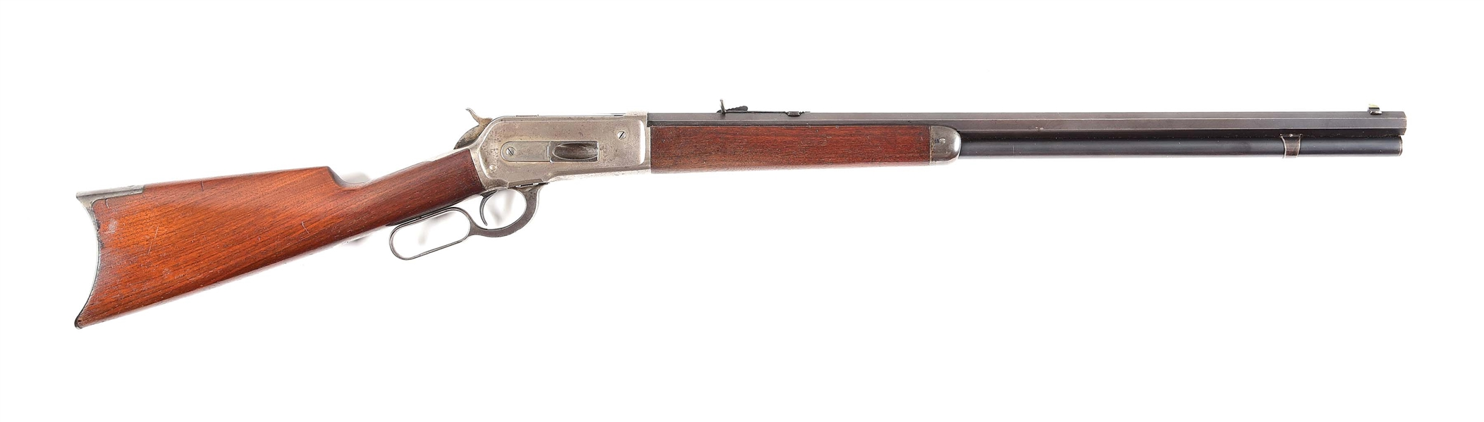 (A) WINCHESTER 1886 LEVER ACTION RIFLE.