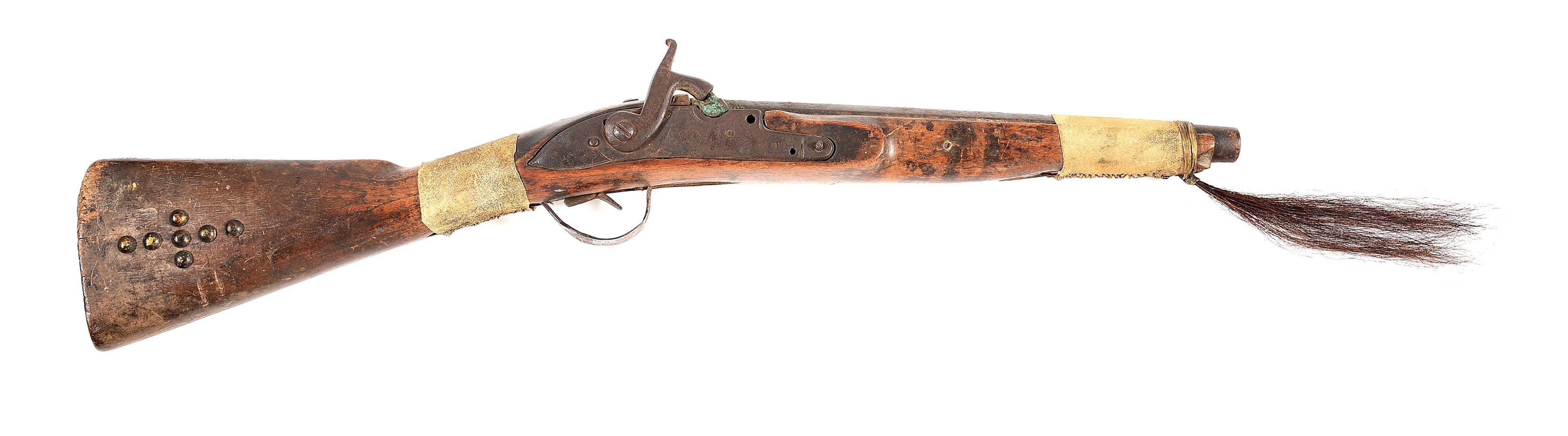(A) UNTOUCHED AMERICAN PLAINS INDIAN TRADE TYPE BLANKET GUN.