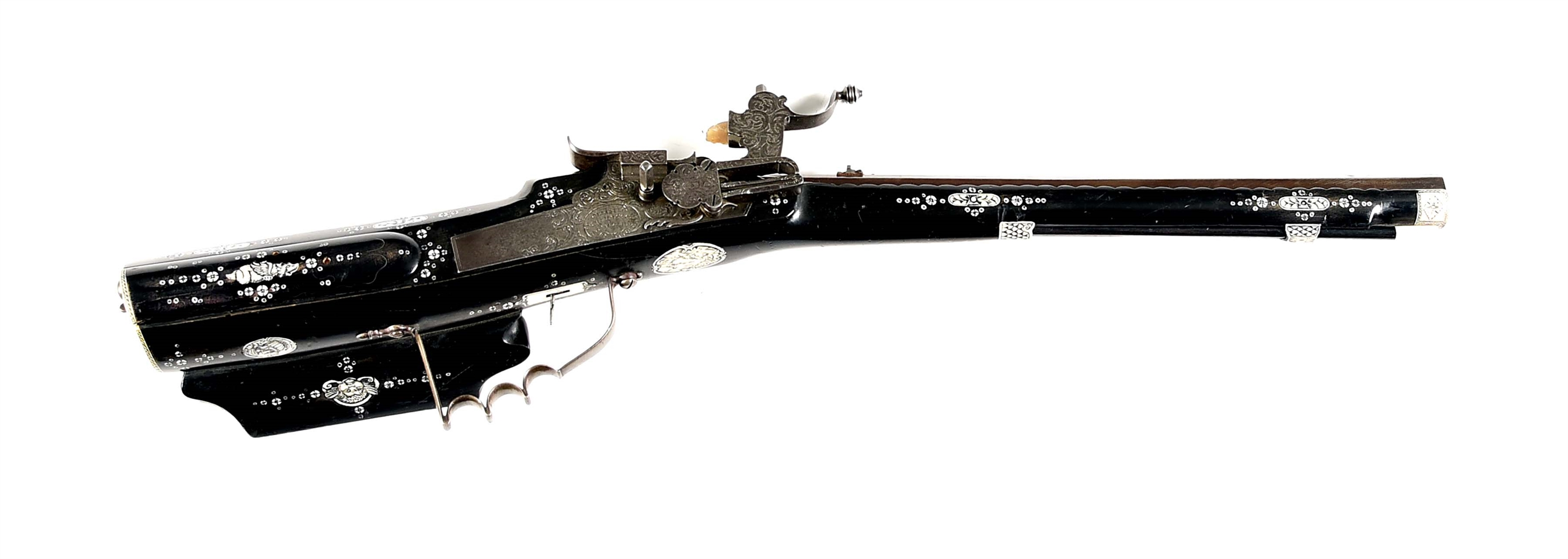 (A) A COMPOSITE GERMAN WHEELOCK CARBINE.