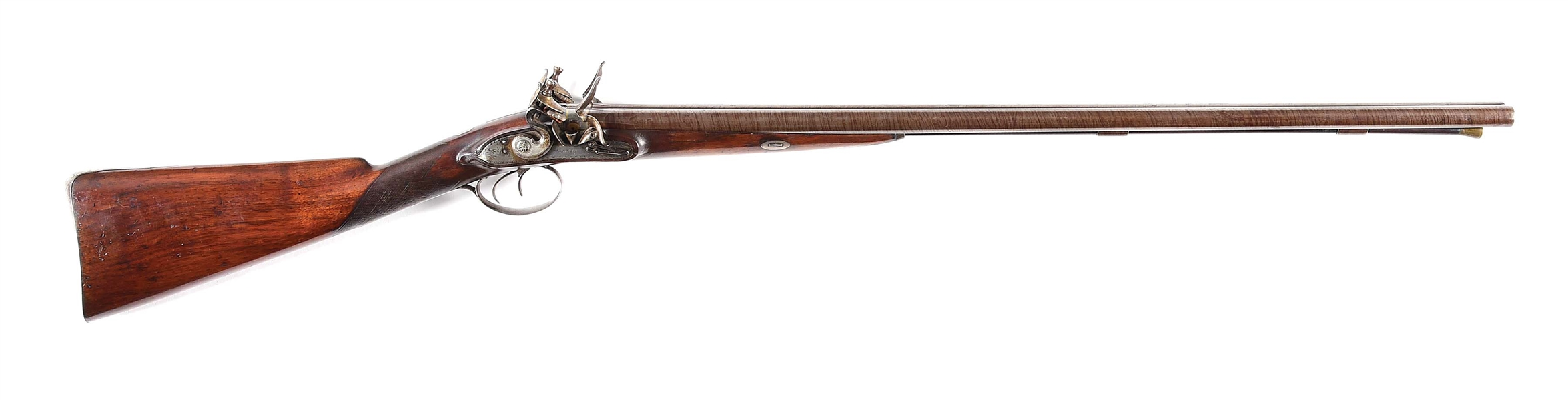 (A) A CONTEMPORARY COPY OF MANTON SIDE BY SIDE FLINTLOCK SHOTGUN.
