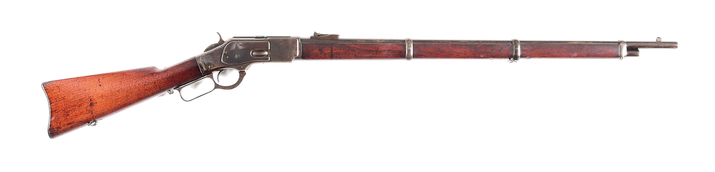 (A) WINCHESTER MODEL 1873 MUSKET LEVER ACTION RIFLE (1891).