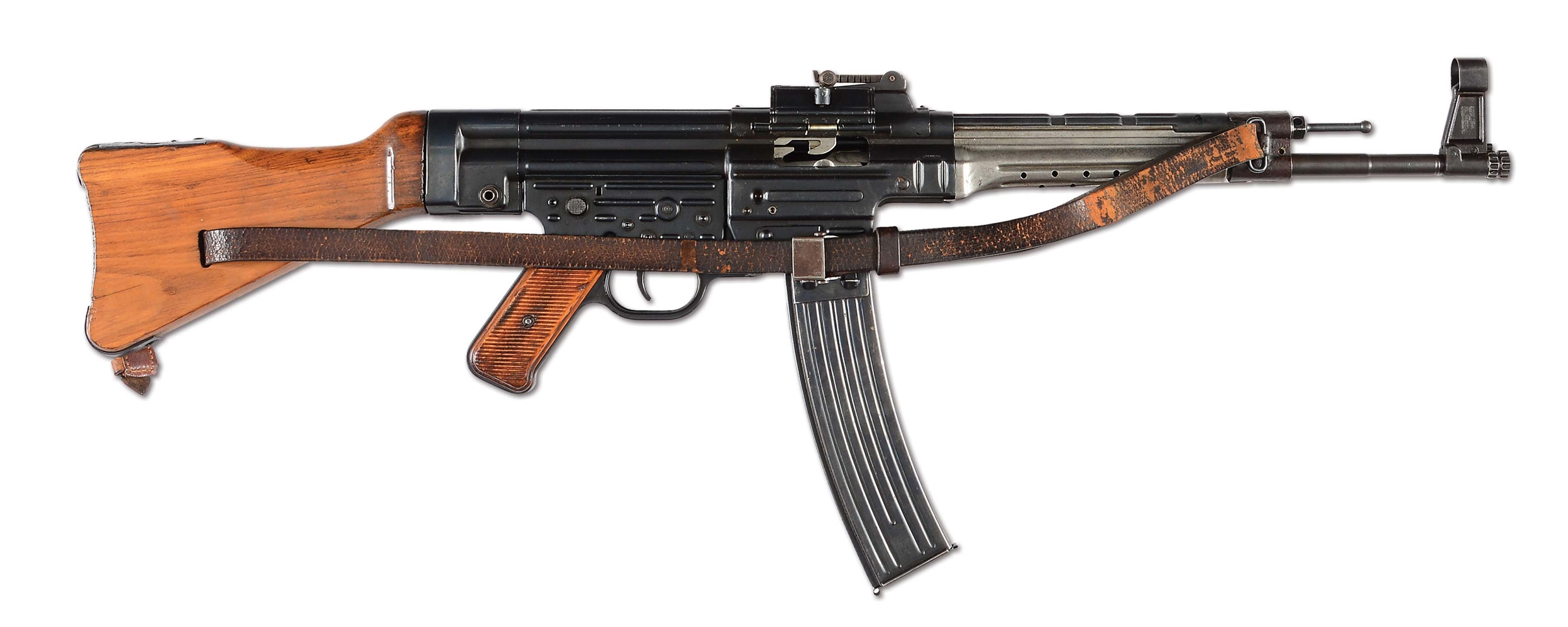 (N) EXCEPTIONALLY ATTRACTIVE GERMAN MP-44 MACHINE GUN WITH SLING (CURIO AND RELIC).