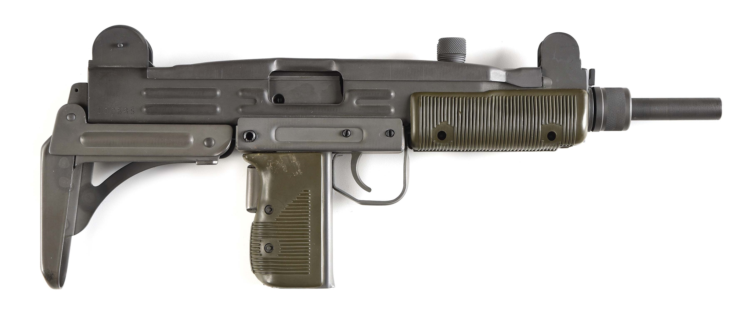 (N) NEAR MINT GROUP INDUSTRIES HR 4332 UZI MACHINE GUN WITH FOLDING STOCK AND .22 CONVERSION KIT (FULLY TRANSFERABLE).