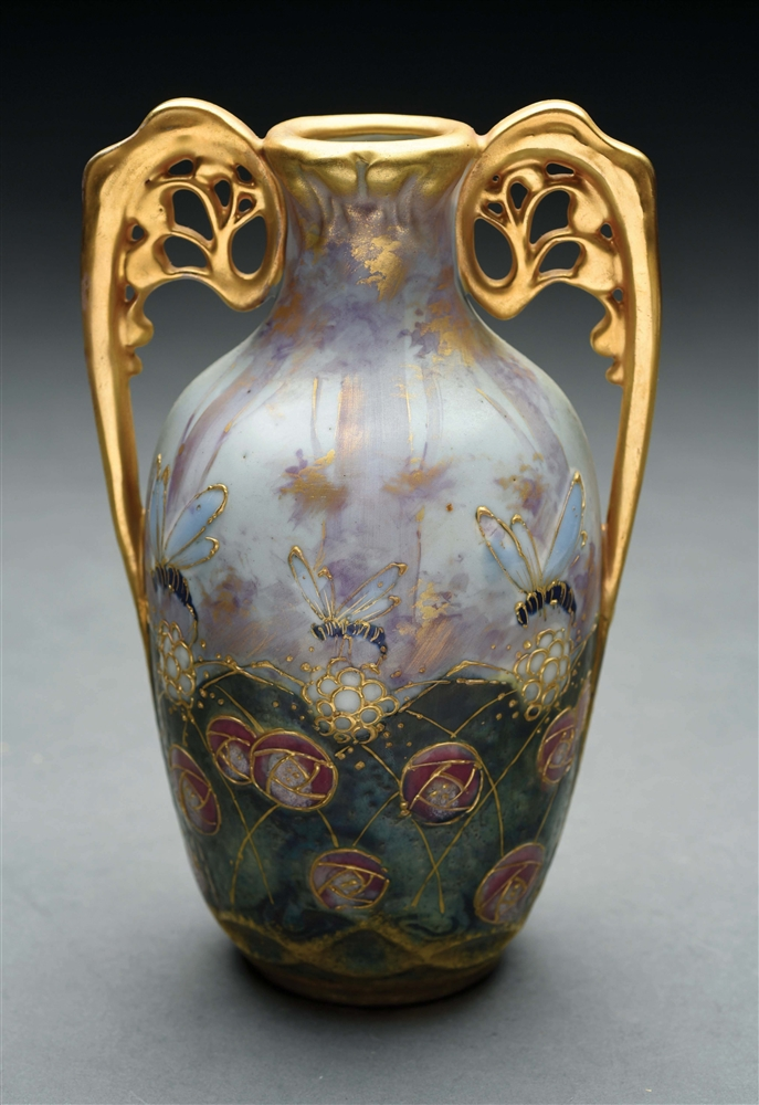 "AMPHORA ""LIFE IN THE FOREST"" VASE."