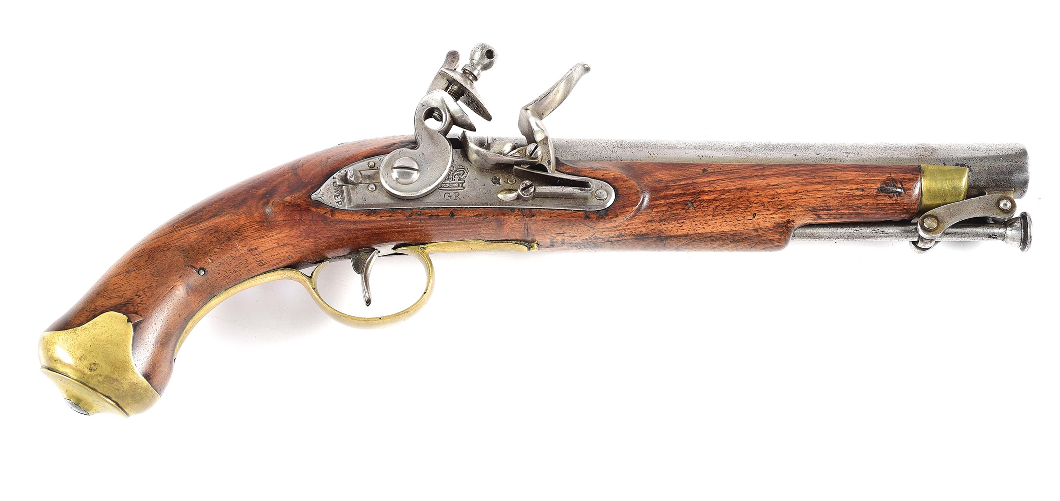 (A) BRITISH NEW LAND PATTERN FLINTLOCK PISTOL.