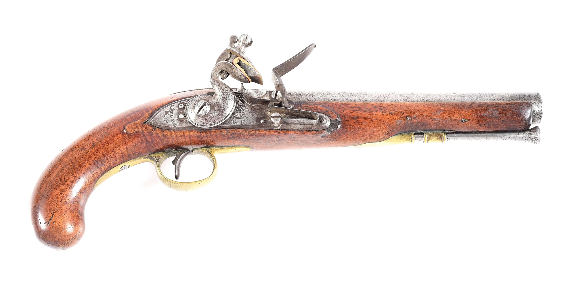 (A) A BRITISH HEAVY DRAGOON FLINTLOCK PISTOL BY KETLAND & CO.