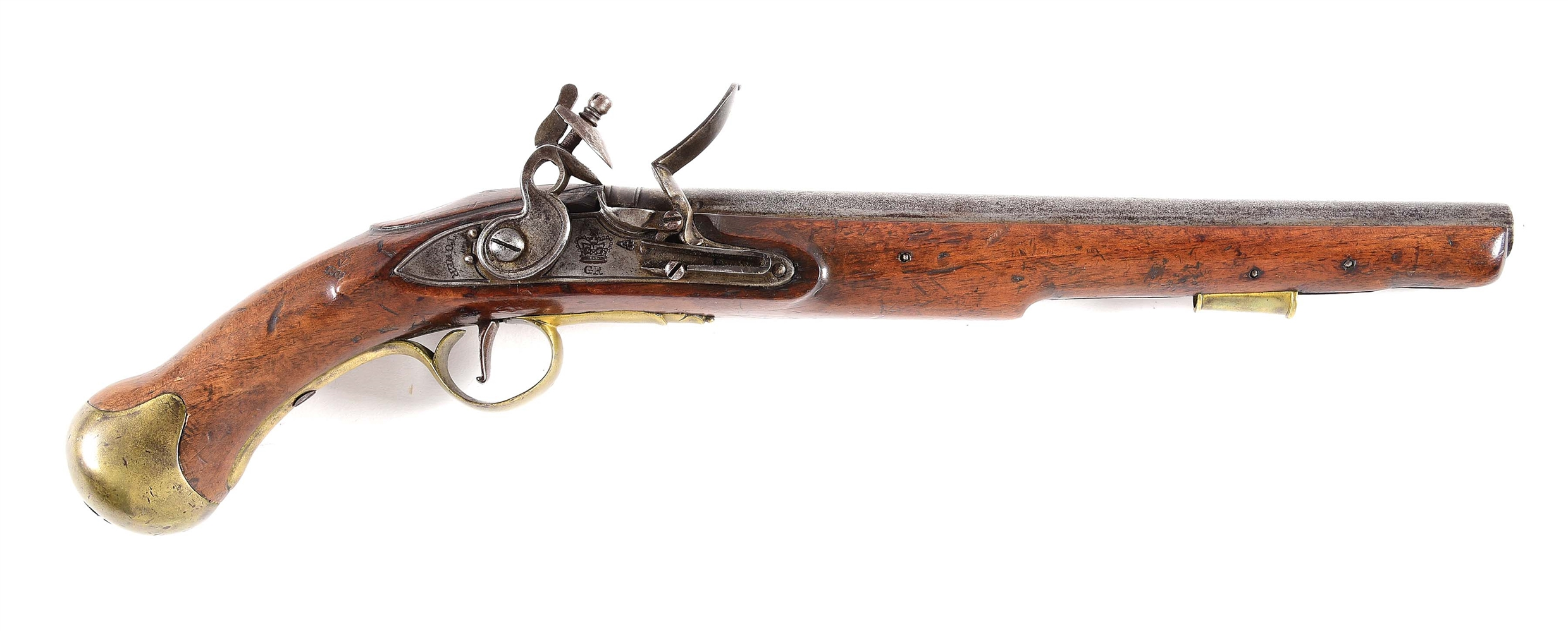 (A) BRITISH 1796 PATTERN SEA SERVICE PISTOL.