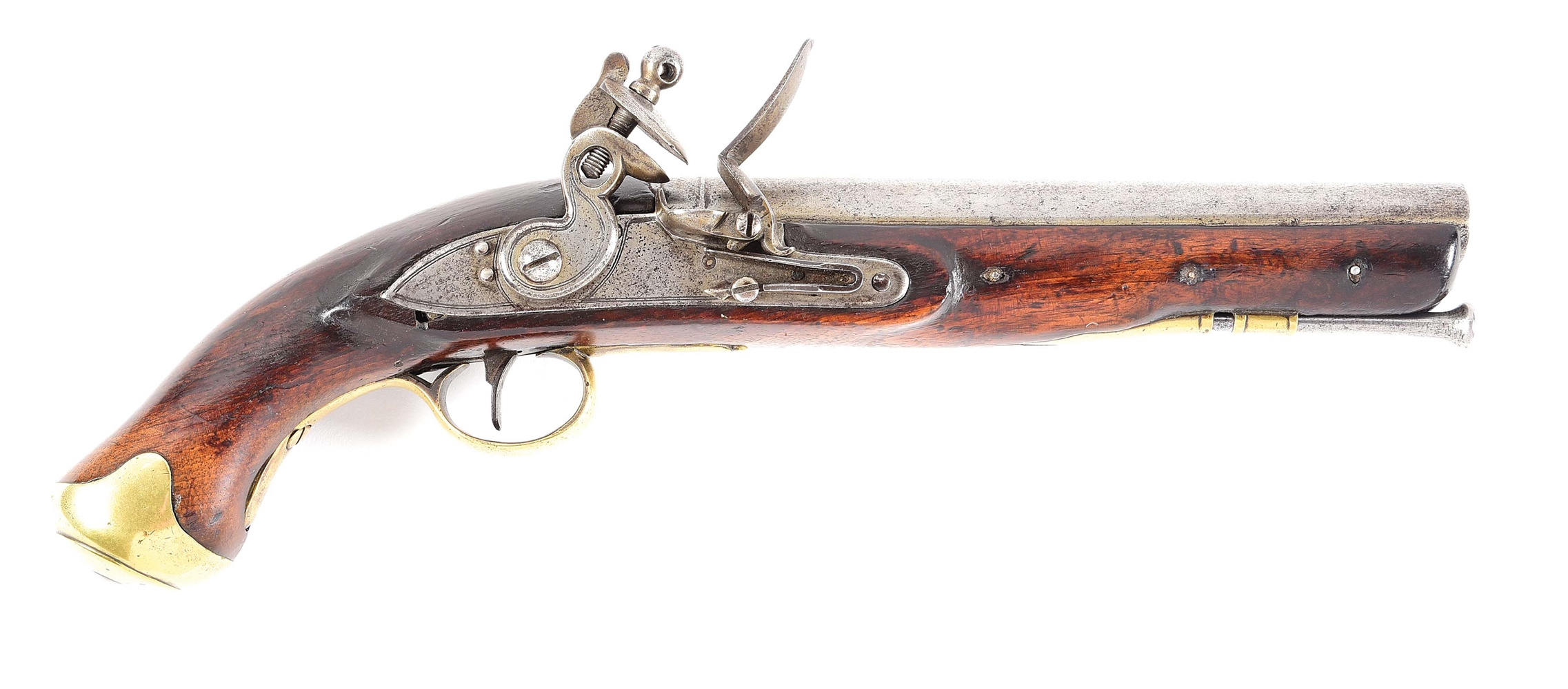 (A) A COMPOSITE BRITISH FLINTLOCK PISTOL IN THE STYLE OF AN EAST INDIA COMPANY PATTERN LIGHT DRAGOON.