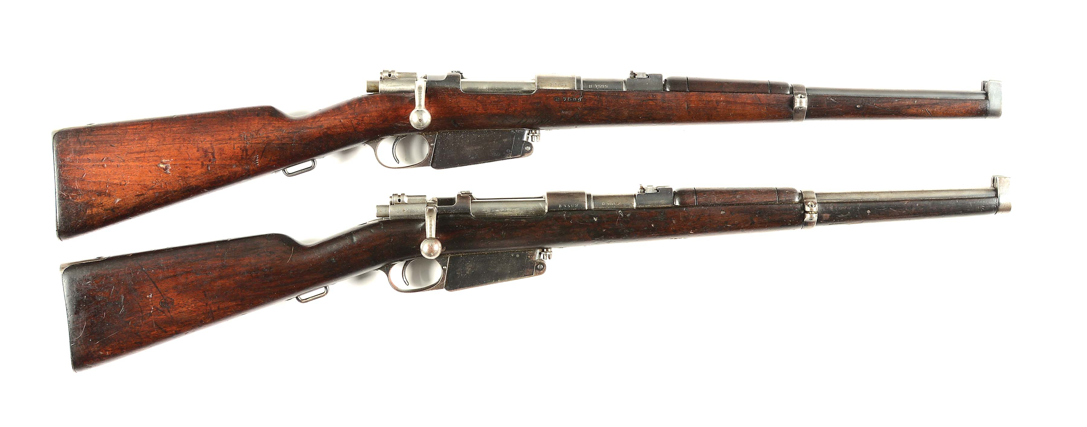 (C) COLLECTORS LOT OF 2: DWM AND LOEWE BERLIN 1891 ARGENTINO MAUSER CAVALRY...