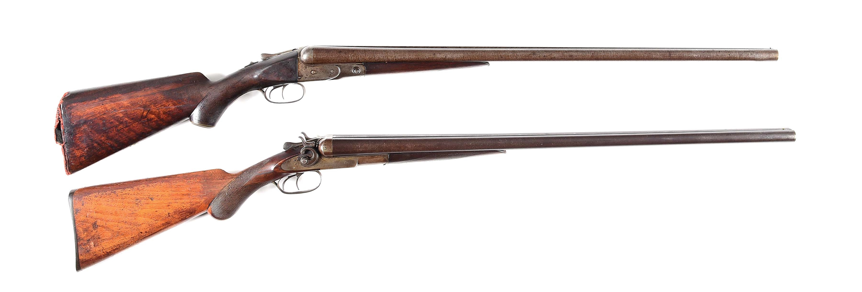 (A) LOT OF 2: PARKER BROS. AND REMINGTON SIDE BY SIDE SHOTGUNS.