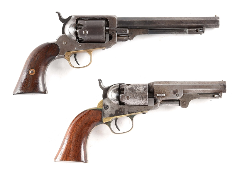 (A) LOT OF 2: E. WHITNEY AND COLT PERCUSSION REVOLVERS.