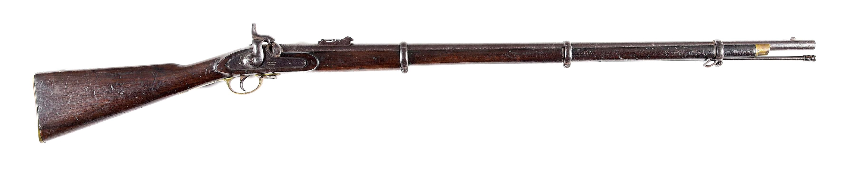 (A) RARE CONFEDERATE IMPORTED AND NUMBERED P-53 ENFIELD MUSKET BY BOND.