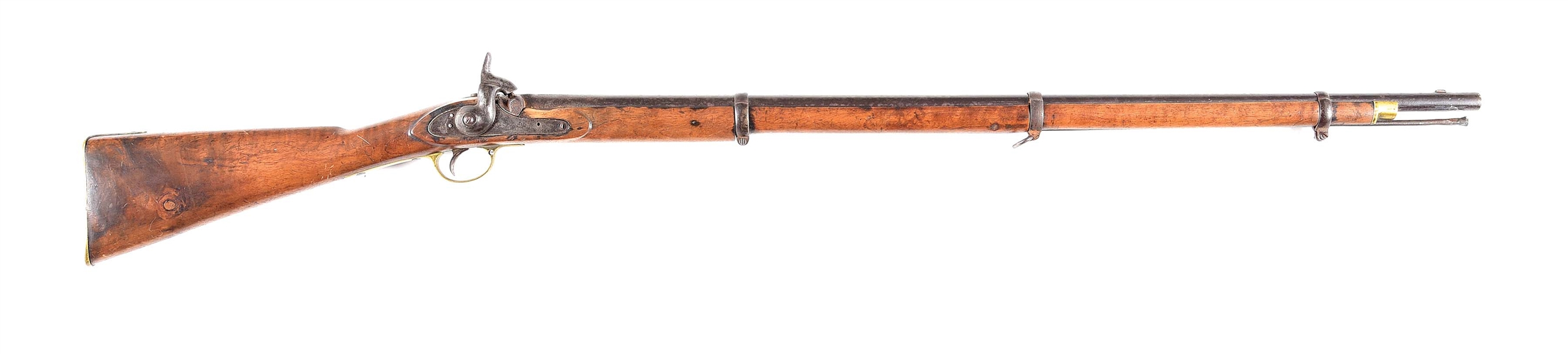 (A) MOORE AMERICAN MADE ENFIELD PERCUSSION RIFLE.