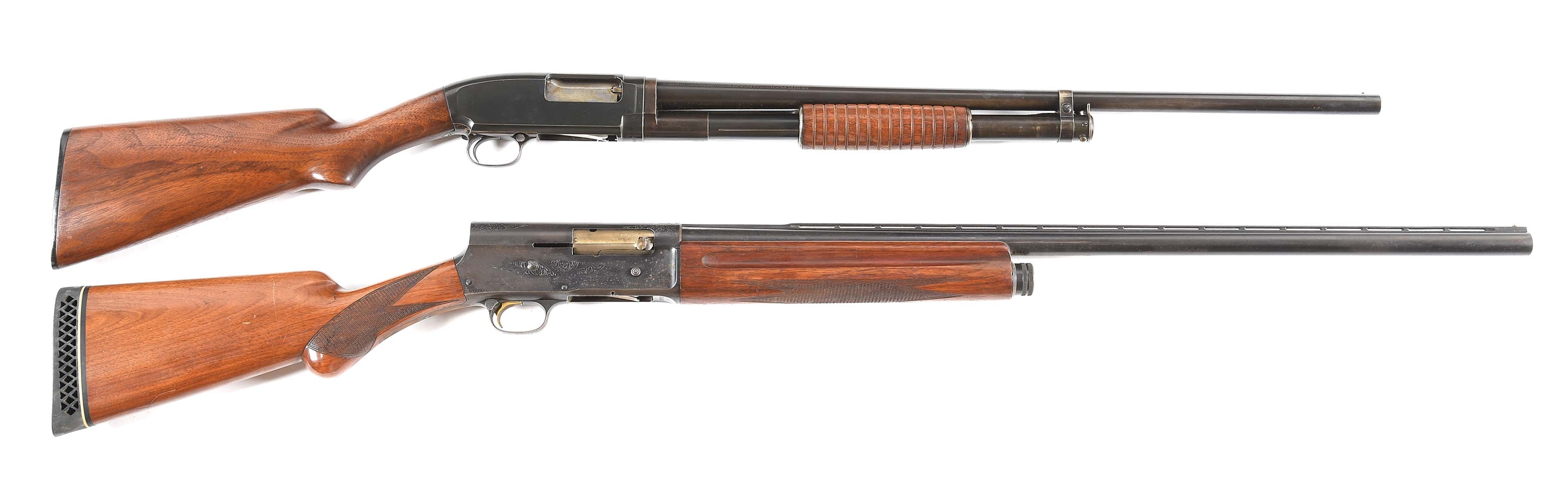 (C) LOT OF 2: WINCHESTER 1912 SLIDE ACTION AND BROWNING A5 SEMI-AUTOMATIC SHOTGUNS