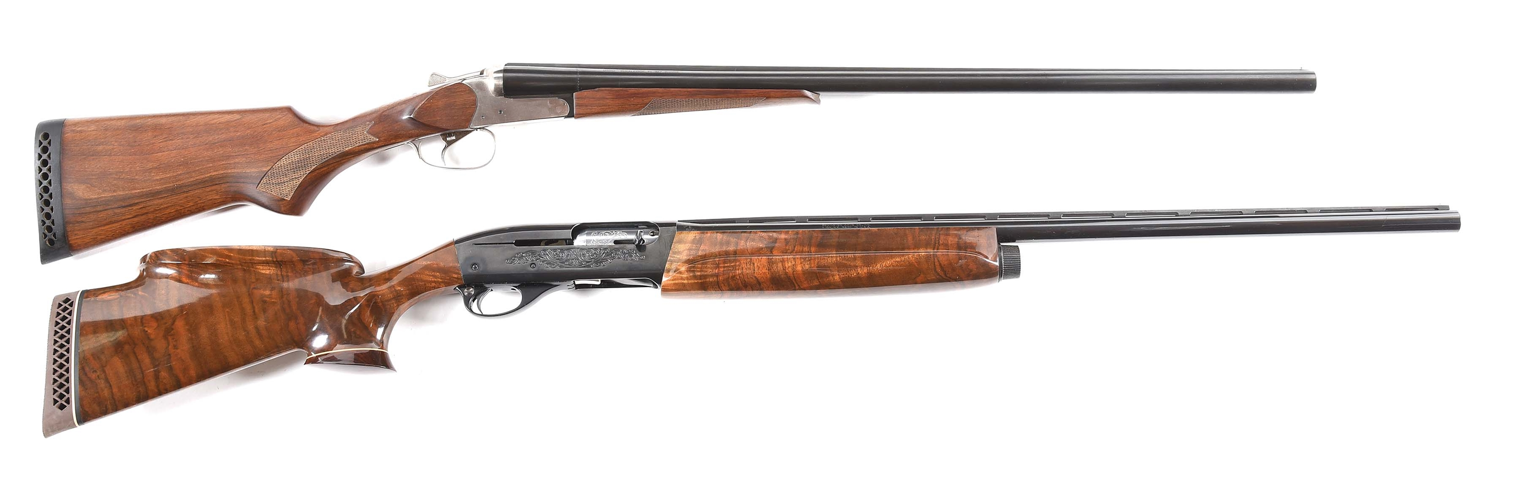(M) LOT OF TWO: TWO TWELVE GAUGE SHOTGUNS, ONE BAIKAL AND ONE REMINGTON.