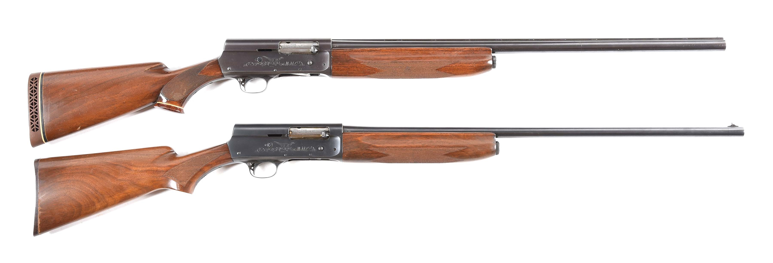 (C) LOT OF TWO REMINGTON MODEL 11 SEMI AUTOMATIC SHOTGUNS: INCLUDING A SCARCE 20 GAUGE MODEL 11