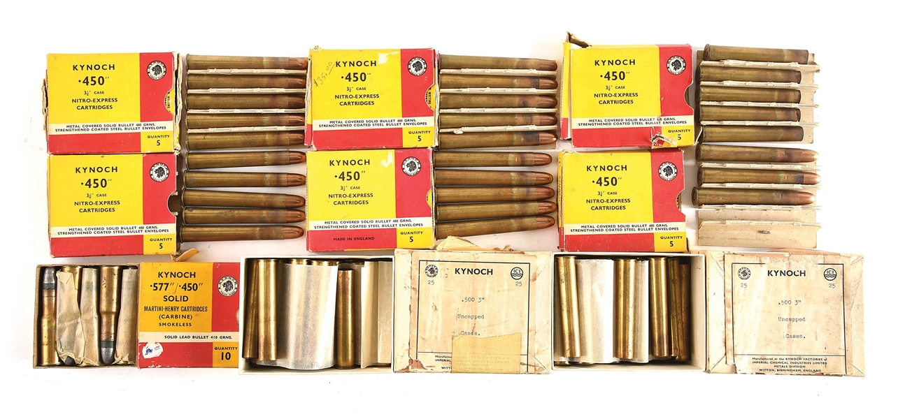 LOT OF 9 BOXES OF AMMUNITION.