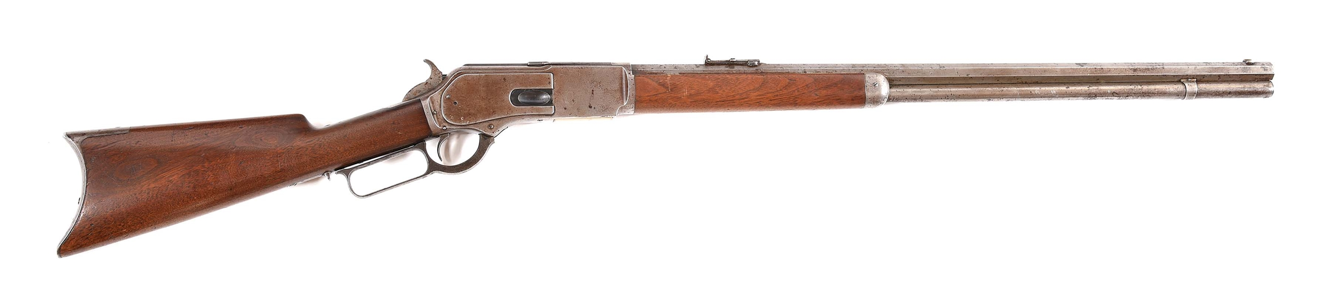 (A) WINCHESTER MODEL 1876 .45-60 LEVER ACTION RIFLE.