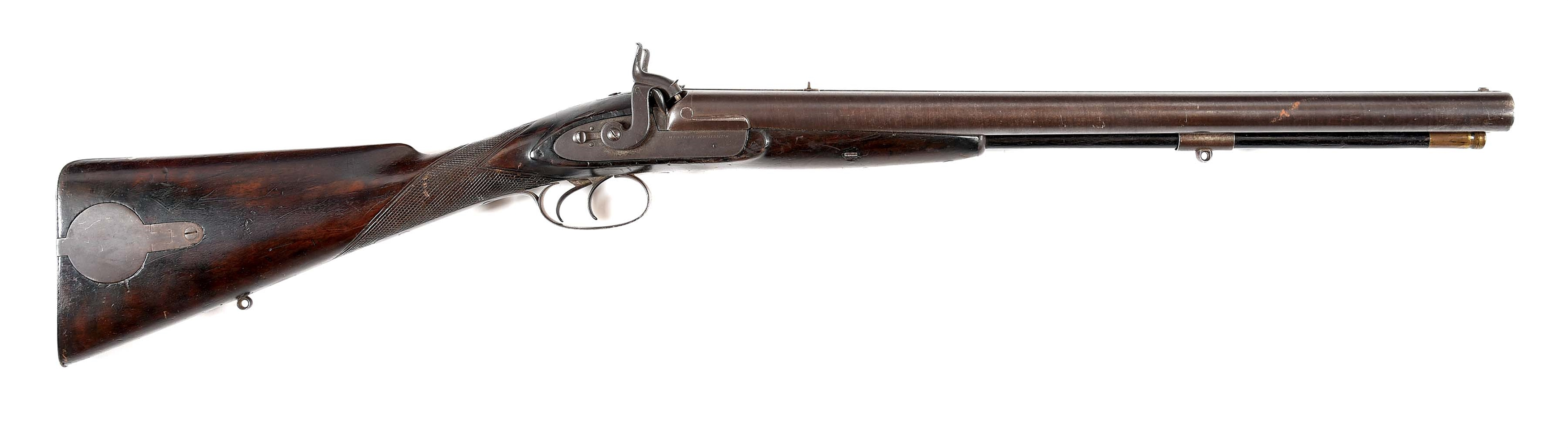 (A) A GOOD WESTLEY RICHARDS DANGEROUS GAME PERCUSSION DOUBLE RIFLE.