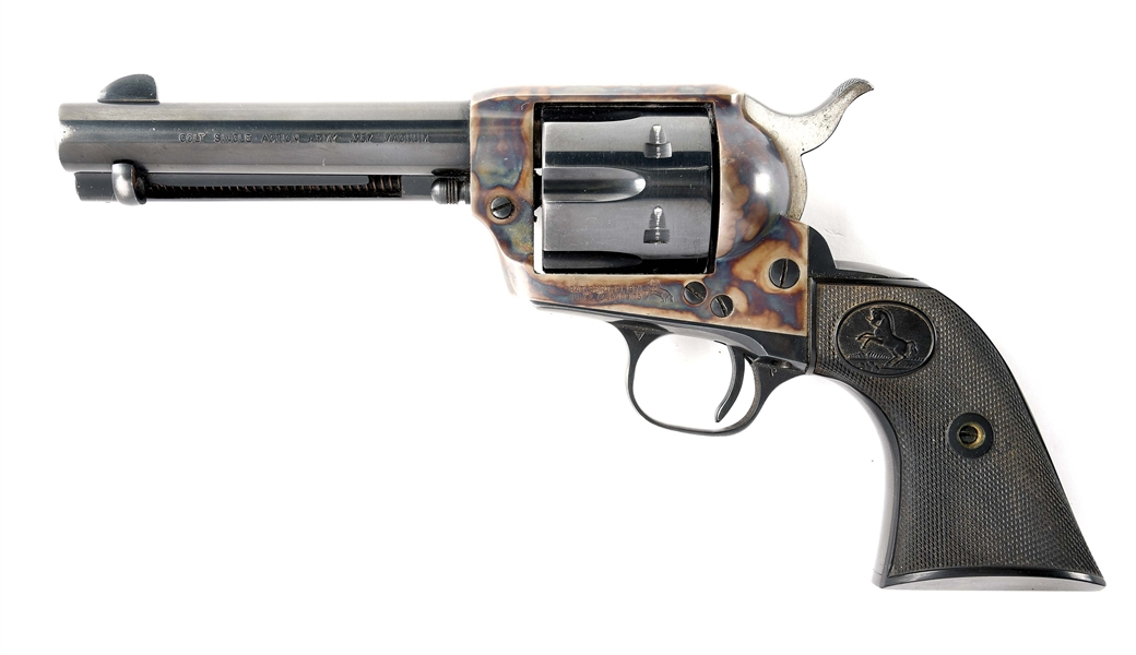(C) COLT SINGLE ACTION ARMY .357 MAGNUM REVOLVER.