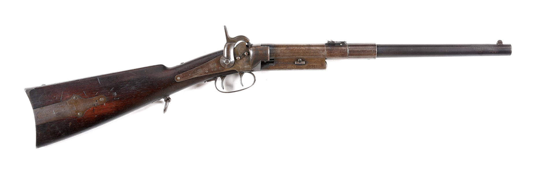 (A) MASSACHUSETTS ARMS CO. GREENE CARBINE PERCUSSION RIFLE.