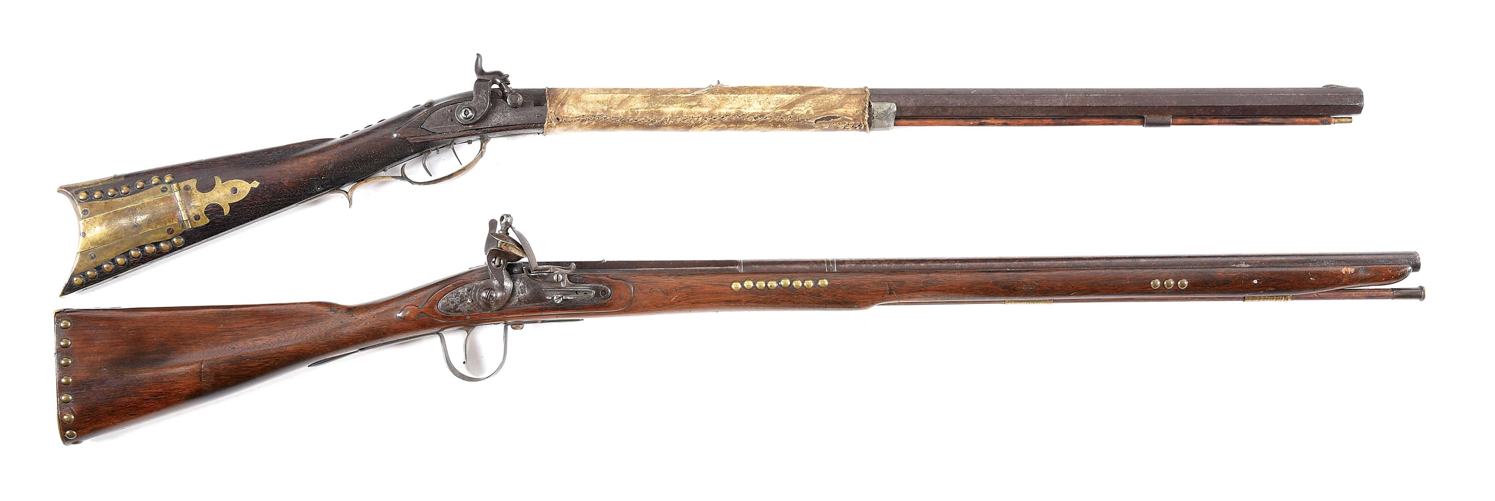 (A) LOT OF 2: PLAINS RIFLE AND PARKER FIELD RIFLE.