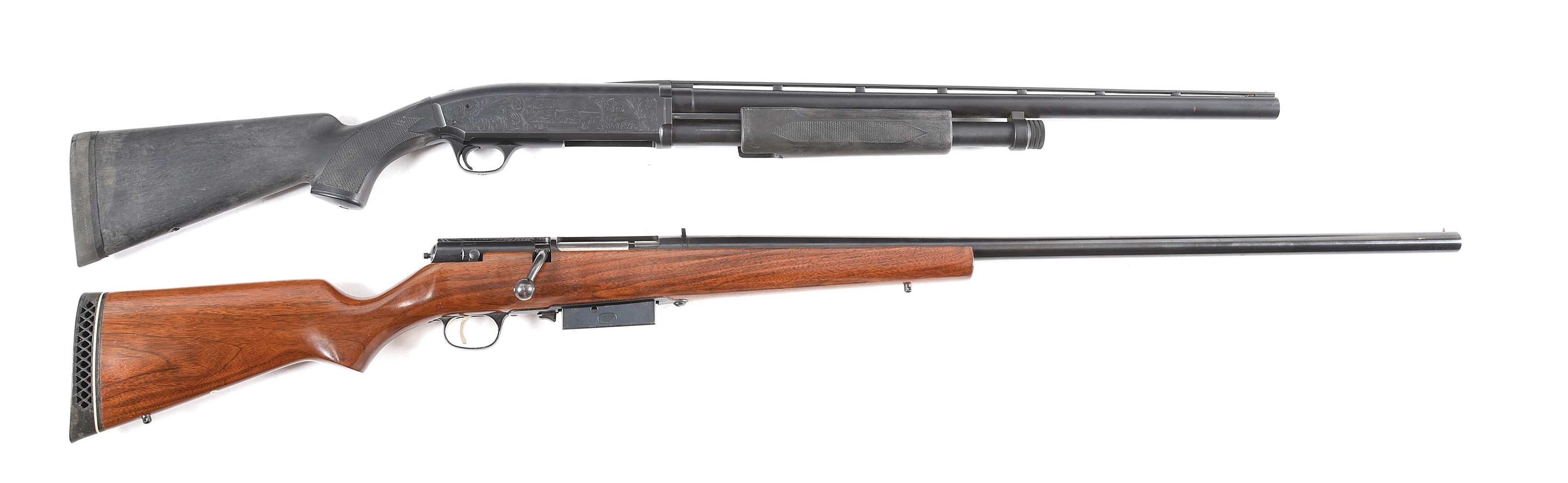 (M) LOT OF 2: BROWNING BPS AND MARLIN SUPER GOOSE SHOTGUNS BOTH IN 10 GAUGE.