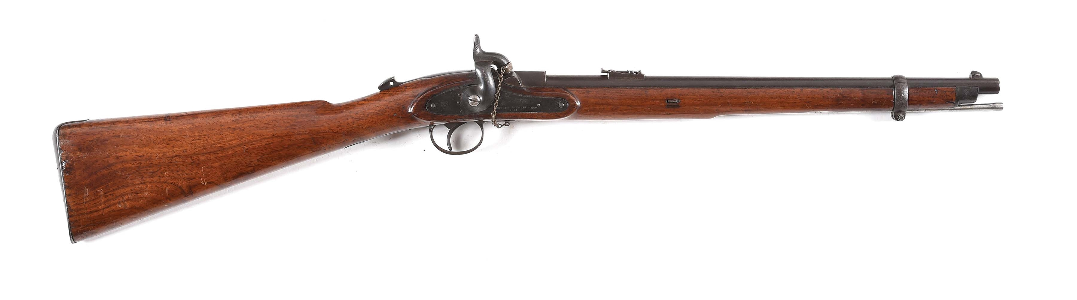 (A) WESTLEY RICHARDS MONKEY TAIL PERCUSSION RIFLE.