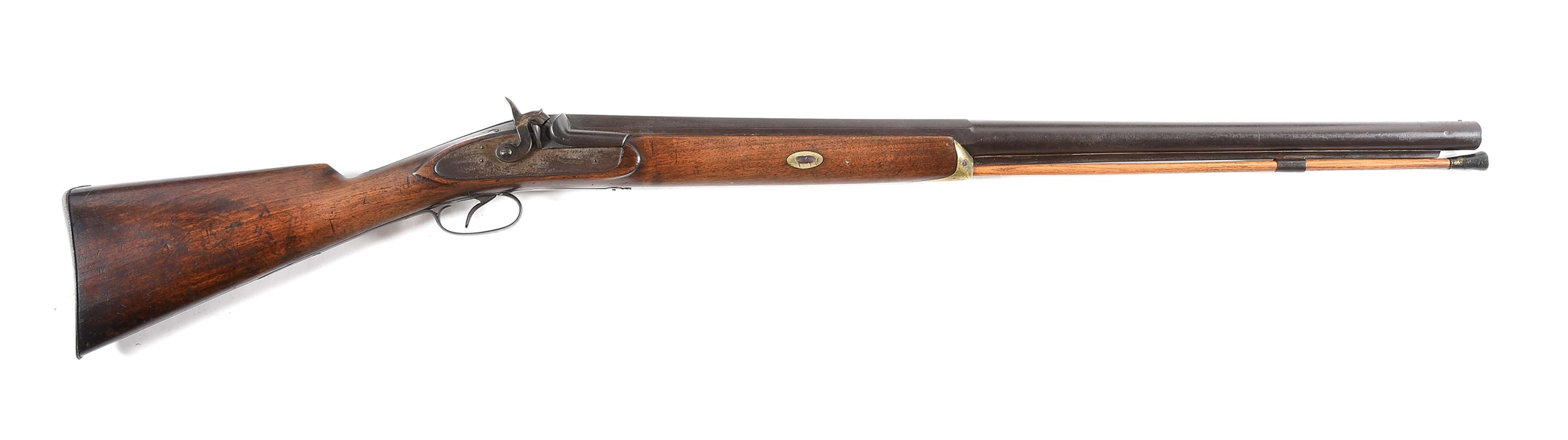 (A) J DONN FOWLER PERCUSSION SHOTGUN.
