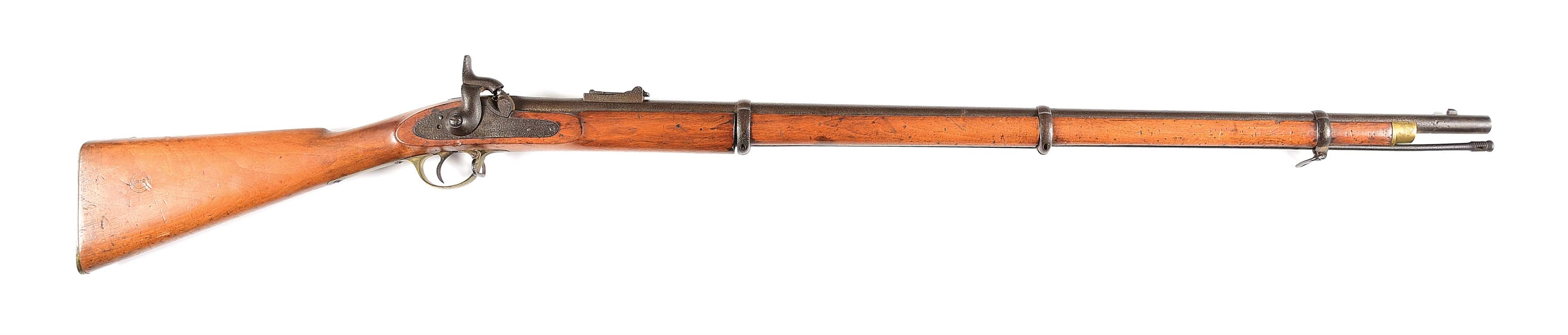 (A) UNSIGNED BRITISH PERCUSSION RIFLE.