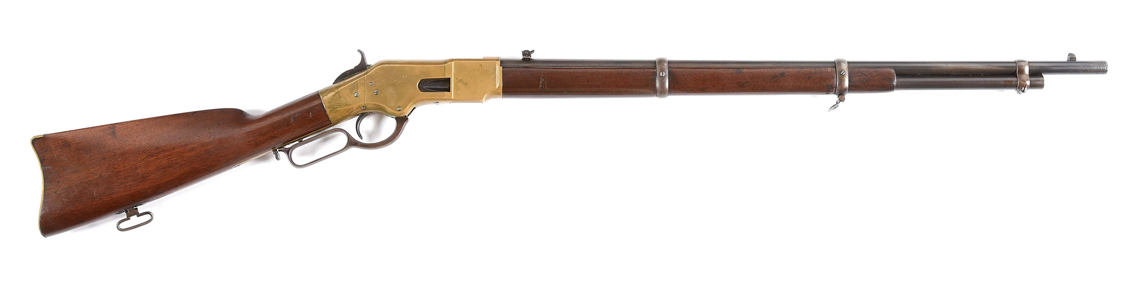 (A) WINCHESTER MODEL 1866 LOUISIANA STATE MILITIA LEVER-ACTION RIFLE IN .44 HENRY RIMFIRE.