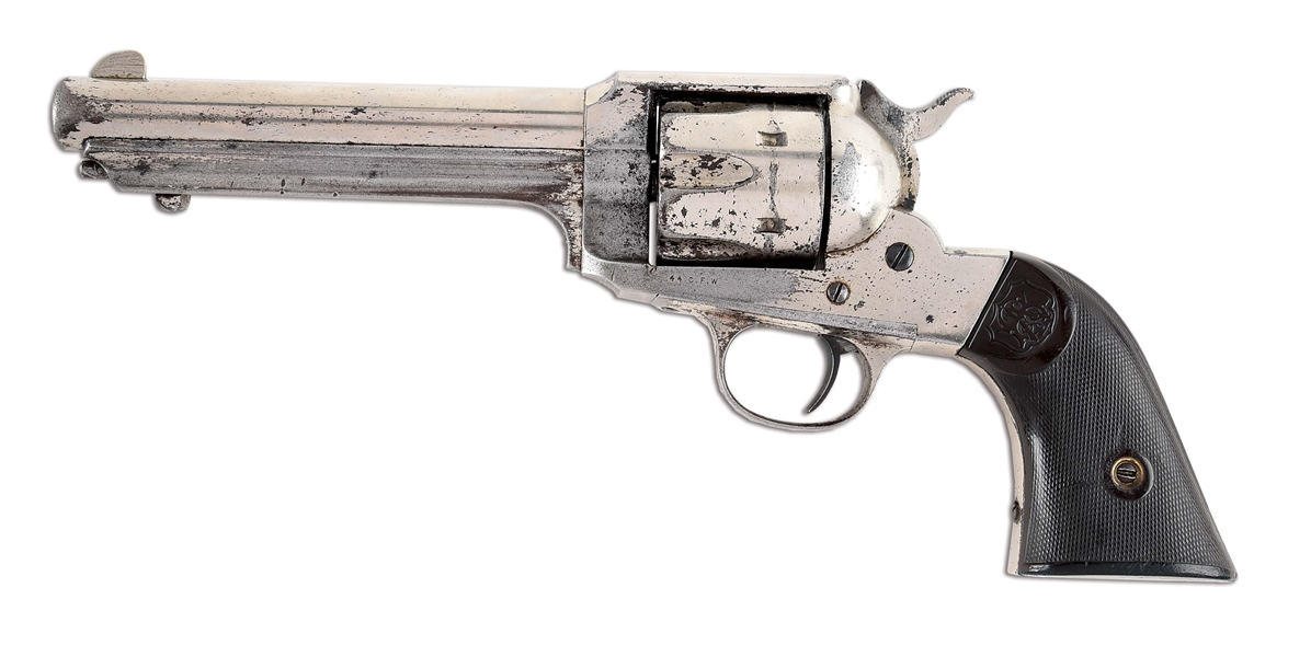 (A) REMINGTON 1890 .44-40 SINGLE ACTION REVOLVER.