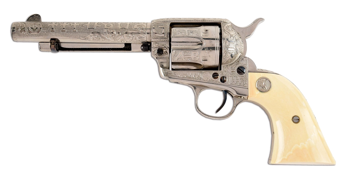 (C) COLT SINGLE ACTION ARMY .45 SINGLE ACTION REVOLVER