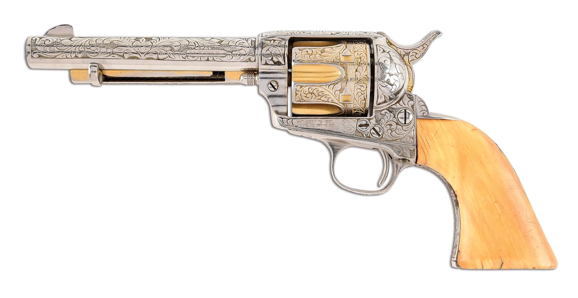 (C) COLT SINGLE ACTION ARMY .38 SPECIAL REVOLVER