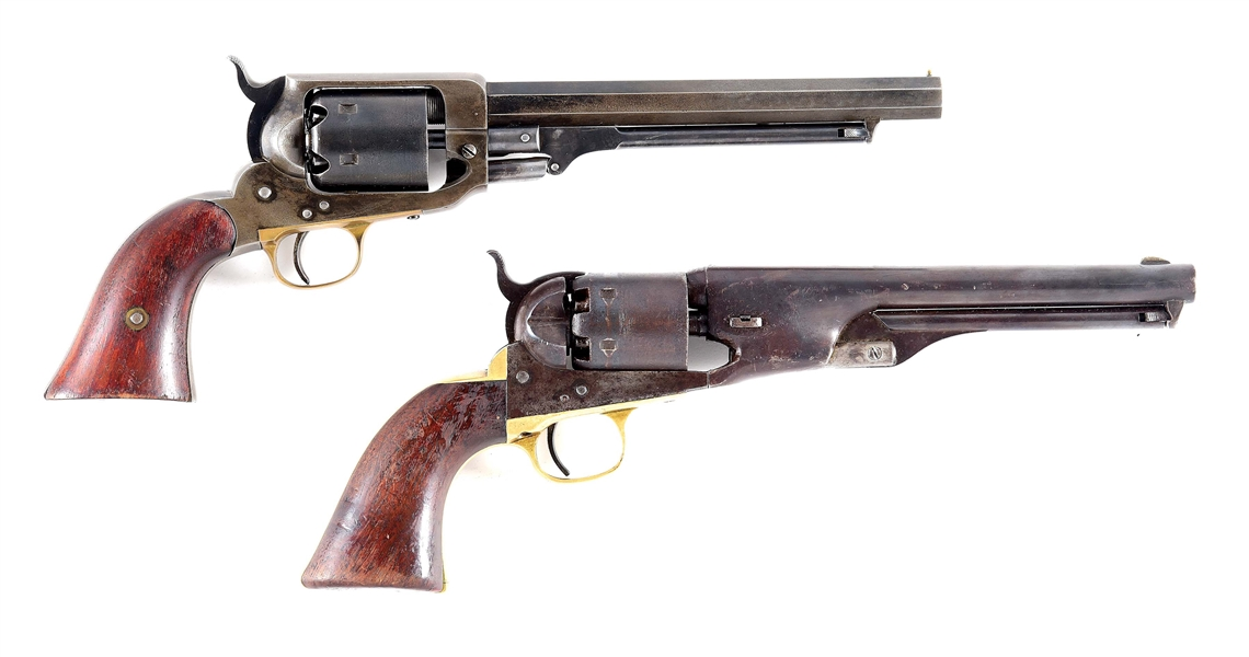 (A) LOT OF 2: PERCUSSION REVOLVERS - WHITNEY NAVY AND COLT MODEL 1861 NAVY