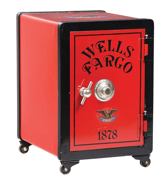 RESTORED WELLS FARGO COMBINATION SAFE.