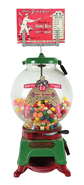 5¢ AD-LEE E-Z GUMBALL VENDING MACHINE.