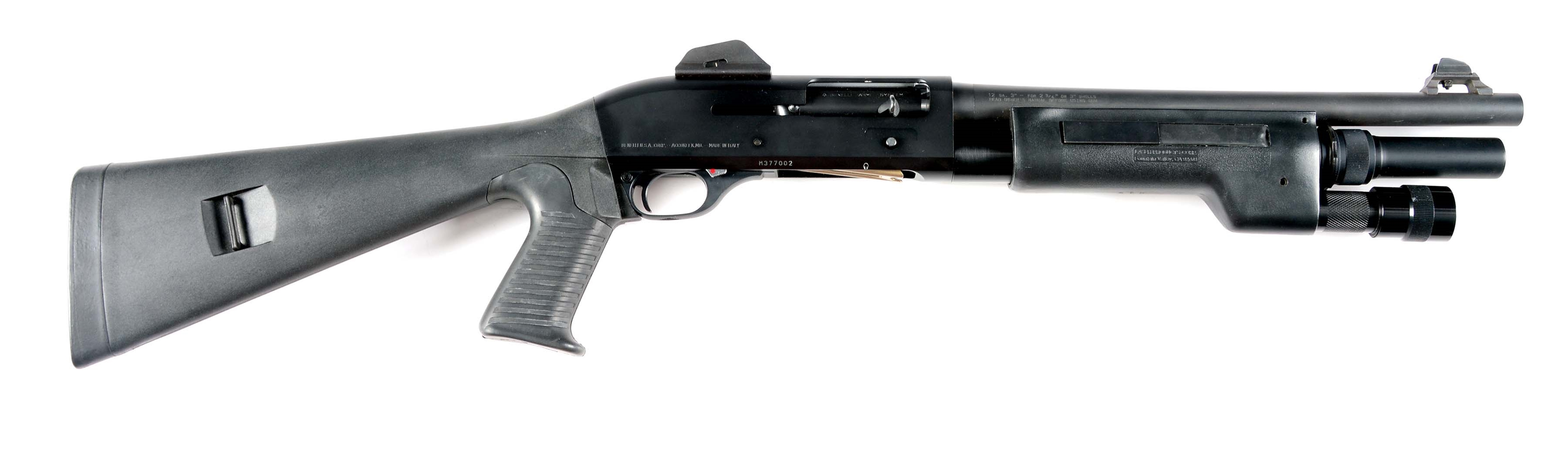(N) BENELLI M1 SUPER 90 SEMI-AUTOMATIC SHORT BARREL SHOTGUN WITH BOX (SHORT BARREL SHOTGUN).