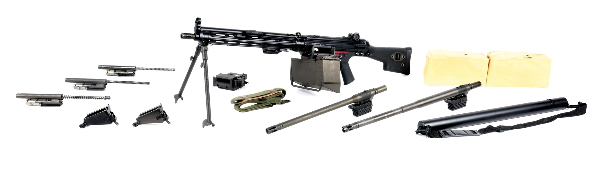 (N) H&K MODEL 21E MACHINE GUN WITH ACCESSORIES (FULLY TRANSFERABLE).